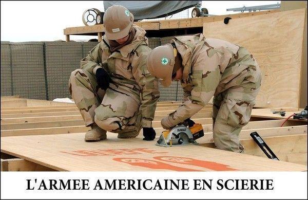 L'armée américaine en Syrie... Heu... En scierie