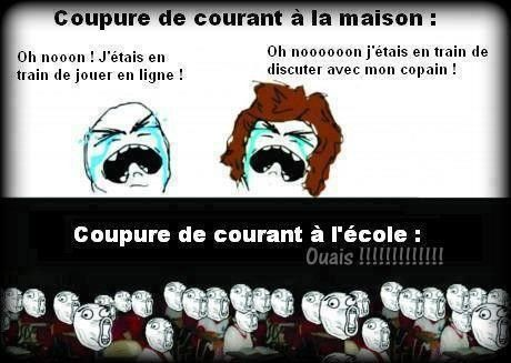 Coupure de courant maison vs cole - Coupure de courant congelateur ...