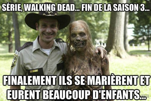 image drole the walking dead