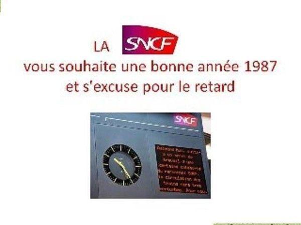 La SNCF vous souhaite une bonne année...