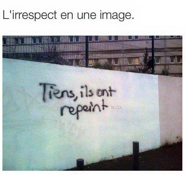 L'irrespect en une image