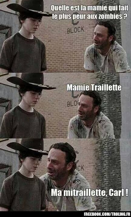 photo drole walking dead