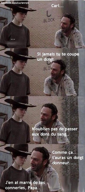 Walking dead blague, doigt d'honneur