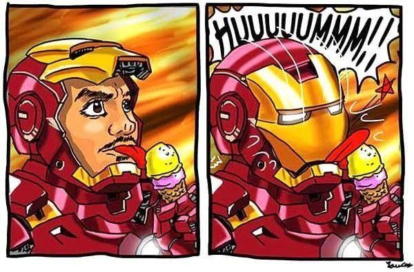Iron Man ne mange jamais de glace